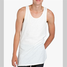 white color custom jersey mens tank top