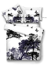 100% Cotton Flat Screen Duvet Cover and Cushion Cover Bedding Set Good Quality