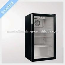 100L modern underzero supermarket display refrigerator/100L commercial low temperature coller