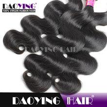 aaaaa virgin hair virgin malaysian body wave hair, false eyelashes natural hair