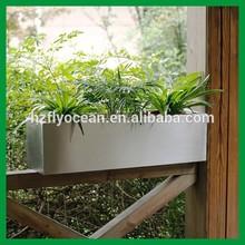 FO-9012 large outdoor rectangular metal flower window box