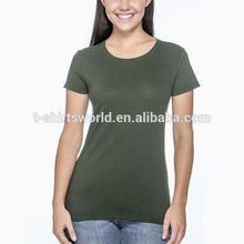 new design custom cotton polyester mixed women sports t shirt