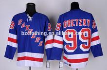 Gretzky #99 New York Rangers Ice Hockey Jersey