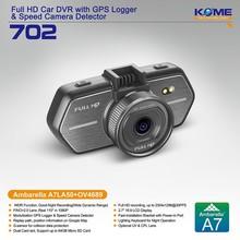 hot kome 702 hd car camera kit digital car video recorder mini dash cam ambarella a7 car dvr gps reversing camera new 2014