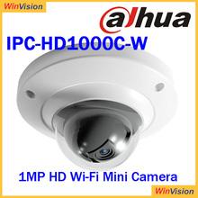 Dahua 1MP HD Wi-Fi Mini Dome Camera can use smart phone DH-IPC-HD1000C-W