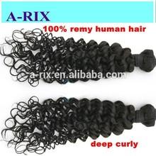 22 inch Nice quality Virgin hair weaves deep curly