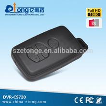 Pinhole 72degrees view angle battery operat wireless portable1080p hd keychain camera