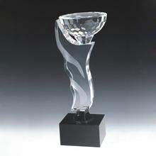 fancy quality souvenir gift custom glass trophy football for sale