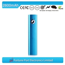 ROHS rechargeable watch batteries, 2600 mah power bank in China