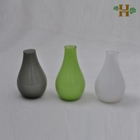 a single flower glass vase for table decoration