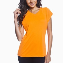 OEM provide blank CVC women t shirt with your company logo