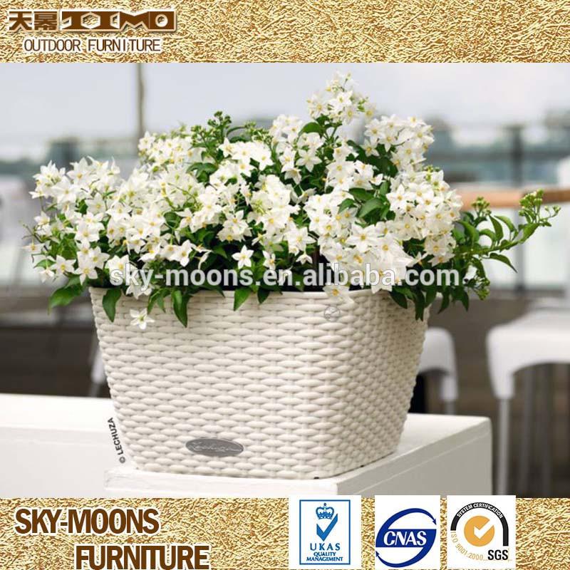 Pequenos vasos de plantas, decoração de natal do rattan poli plástico colorido vasos de plantas( p011)