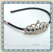 2015 new design crystal crown hairband tiara headband