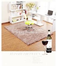 customized exhibition handmade plain chinese wool silk rug