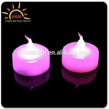 decorative LED candle/LED colorful lighted candle/flashing shining LED candle