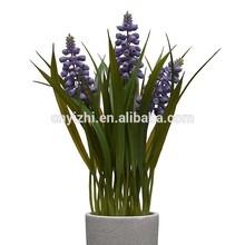 lavender Artificial Hyacinth Flower wholesale silk bonsai Hyacinth 60cmH fabric Hyacinth for office decoration
