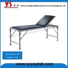 Metal Frame Back Adjustable Medical Patient Examination Bed Couch
