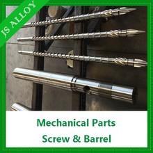 PVC PTA PE ABS extruder mechanical parts bimetallic screw barrel