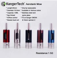 New e cigs 1300mah Kanger EMOW vv kit with adjustable airflow aerotank mow hicig
