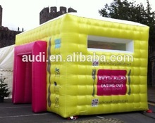Low cost high quality inflatable cube tent