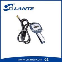 dual-use inflator and deflator tire gauge