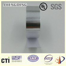 Company logo! 18um With heat resistance Synthetic rubber pressure sensitive adhesive SIS-18 Synthetic Rubber Aluminum Foil Tape
