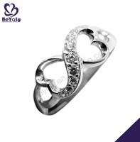 hot sale fashion desing ring jewelry infinity symbol ring