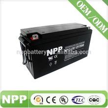 12V 150AH solar power black computer back up battery