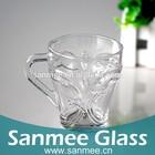 10 Oz Butterfly Design British Coffee Glass Mug