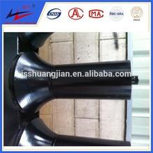 belt conveyor carrier friction flat self-aligning idler roller