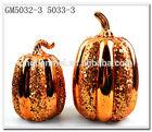 Home Decorative Halloween LED Glass Pumpkin Factory Supplier