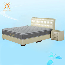 King Size Soft Leather Bed Creamy White Color