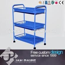Simple Design Pretty Blue Bar Trolley Cart Tea Trolley Service Cart OK-5077B