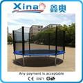10ft exterior comercial equipo del patio de gimnasia de salto de trampolín trampolín con red de seguridad para la venta