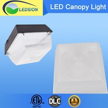 DLC ETL listed IP65 tempered glass lens 60w 80w 100w LED outdoor canopy light for USA Canada