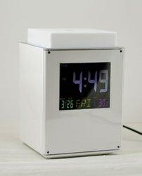 ABS LED big screen sensor dimming light with alarm clock