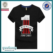 Customized 3D sublimation short sleeve tshirt can make fabric as your request 95 cotton 5 lycra men t shirt