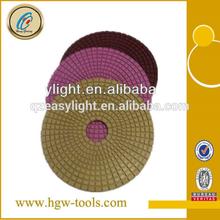 China supply granite/crystal glass diamond polishing pad