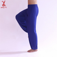 free shipping WD36 2014 authentic yoga tai chi pants model men dance practice pants trousers