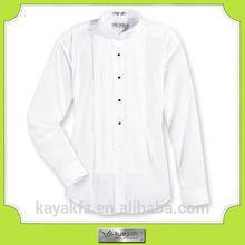 China long sleeve 100% cotton men's tuxedo shirt manufacturer