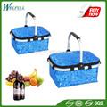 reutilizáveis vazio ao ar livre de vime punho pão cesta de piquenique
