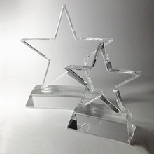 3D Laser Engraving K9 Crystal Trophy Star DY-WJX8005