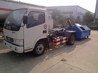3-5t rear hook lift garbage truck,garbage container lift trucks,arm rolling Garbage Truck