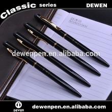 Customized logo twist black metal thin ballpoint pen,hotel pen,cheap gifts