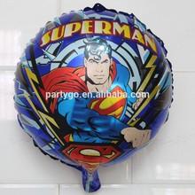 18 inch 2014 New Superman Balloons,Helium foil Balloons cartoon man wholesale
