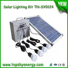 40W Portable Solar Lighting Kit with Lights and Panel