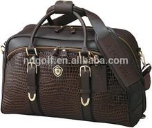 High quality man leather boston golf bag