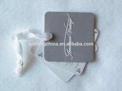 custom garment swing tag with hole