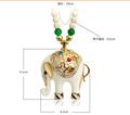 Caliente- la venta tibetano elefante de plata turquesa collar de piedra colgante collar elefante
