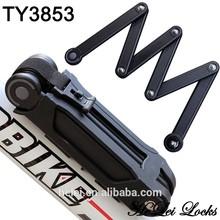 TY3853 New Model top Security Lock,Folding Bike Lock with bracket Ultra strong harden steel alloy metal bone with plastic coati